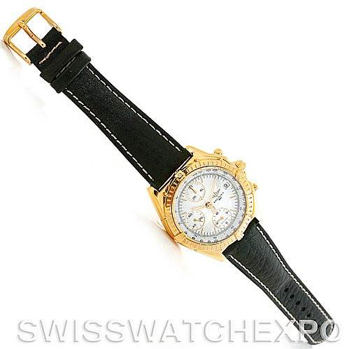 Breitling Windrider Chronomat 18K Yellow Gold Watch K13048 SwissWatchExpo
