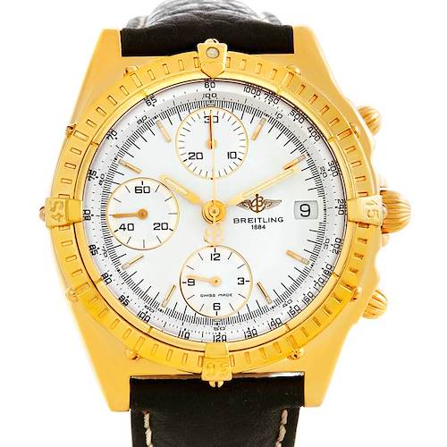 Photo of Breitling Windrider Chronomat 18K Yellow Gold Watch K13048