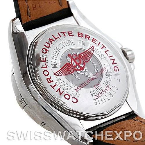 Breitling Windrider Cockpit Mens Steel Watch A49350 SwissWatchExpo