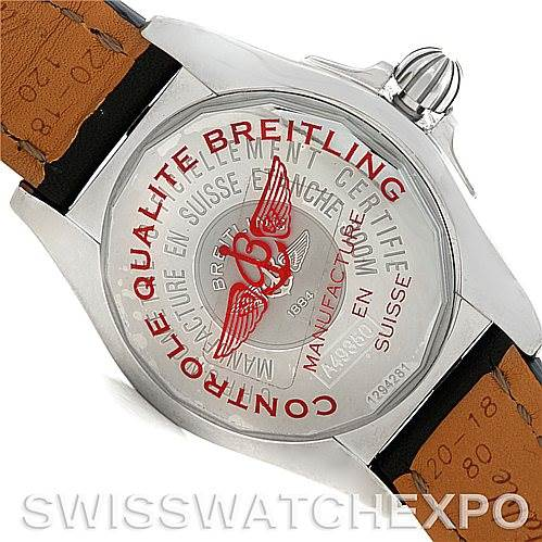 Breitling Windrider Cockpit Mens Steel Watch A49350 SwissWatchExpo