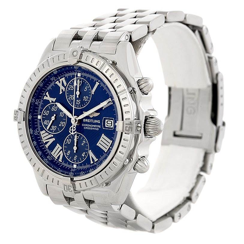 6634 Breitling Windrider Crosswind Stainless Steel Mens Watch A13355 SwissWatchExpo