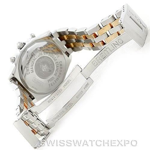 7089 Breitling Windrider Chronomat Steel 18K Yellow Gold Watch D13352 SwissWatchExpo