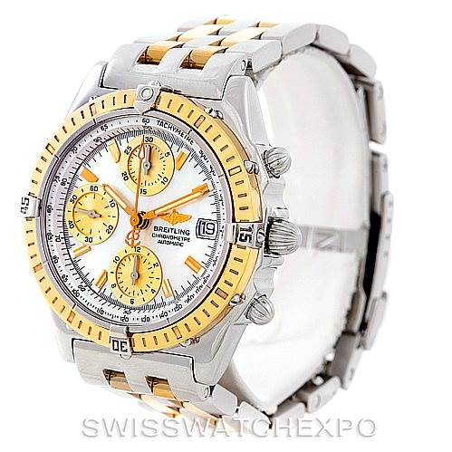 7089 Breitling Windrider Chronomat Steel 18K Yellow Gold Watch D13352 SwissWatchExpo