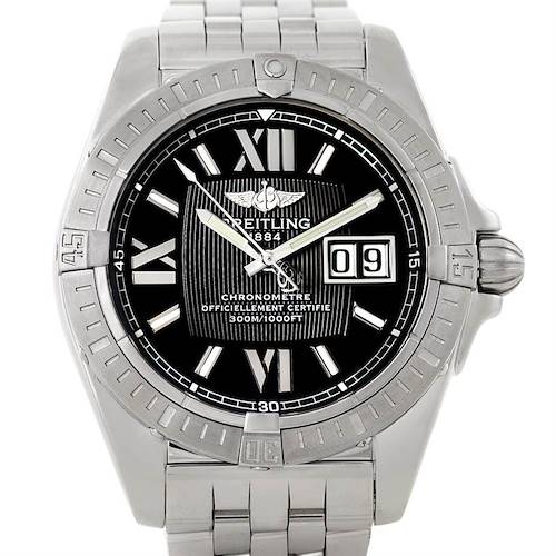 Photo of Breitling Windrider Cockpit Mens Steel Watch A49350