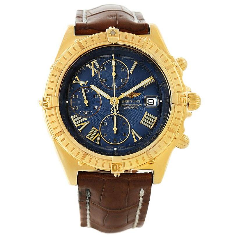 Breitling Windrider Crosswind 18k Yellow Gold Watch K13055