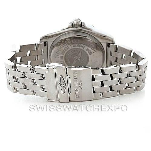 6139 Breitling Windrider Cockpit Mens Steel Diamond Watch A49350 SwissWatchExpo
