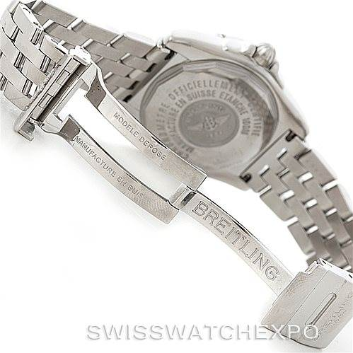 6139 Breitling Windrider Cockpit Mens Steel Diamond Watch A49350 SwissWatchExpo