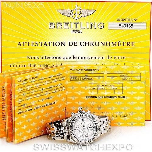 Breitling Windrider Crosswind Steel Mens Watch A13355 SwissWatchExpo