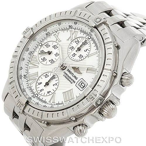 7619 Breitling Windrider Crosswind Steel Mens Watch A13355 SwissWatchExpo