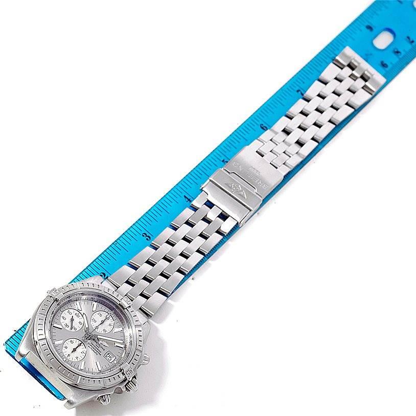 8371 Breitling Windrider Crosswind Stainless Steel Mens Watch A13355 SwissWatchExpo