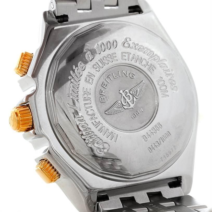 8486 Breitling Windrider Crosswind Special Steel Yellow Gold Watch B13355 SwissWatchExpo