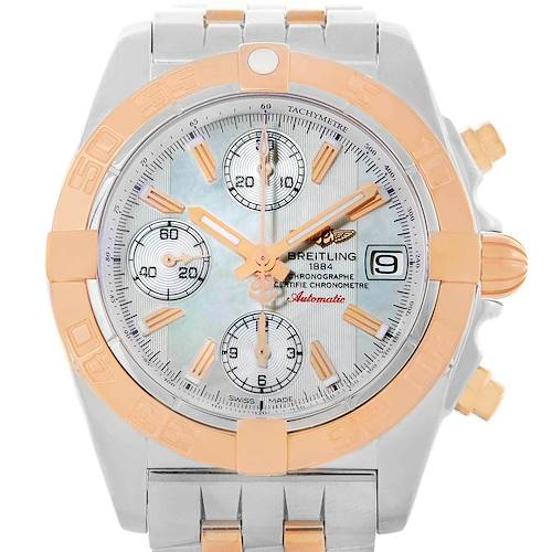 Photo of Breitling Chrono Galactic Stainless Steel Rose Gold Watch C13358