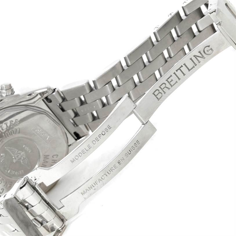 9178 Breitling Windrider Cockpit MOP Diamond Automatic Watch A13357 SwissWatchExpo