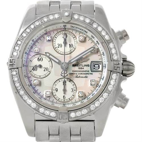 Photo of Breitling Windrider Cockpit MOP Diamond Automatic Watch A13357