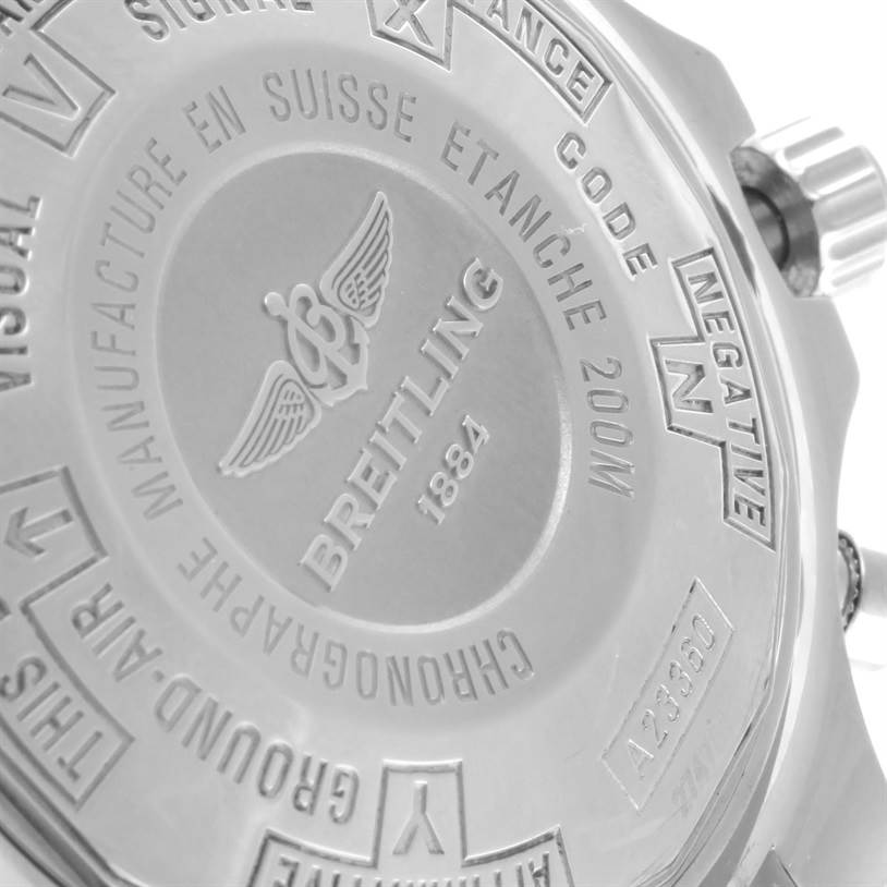 11478 Breitling Chronospace Automatic Chronograph Steel Mens Watch A23360 SwissWatchExpo