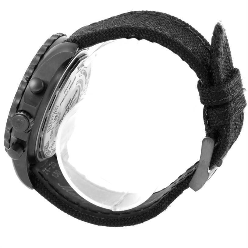 Breitling Chronospace Military GMT Alarm Blacksteel Watch M78366 SwissWatchExpo