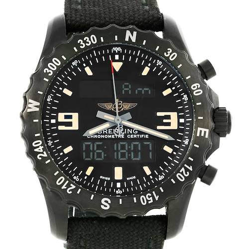 Photo of Breitling Chronospace Military GMT Alarm Blacksteel Watch M78366