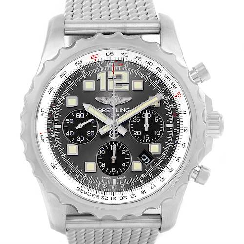 Photo of Breitling Chronospace Grey Dial Chronograph Steel Mens Watch A23360