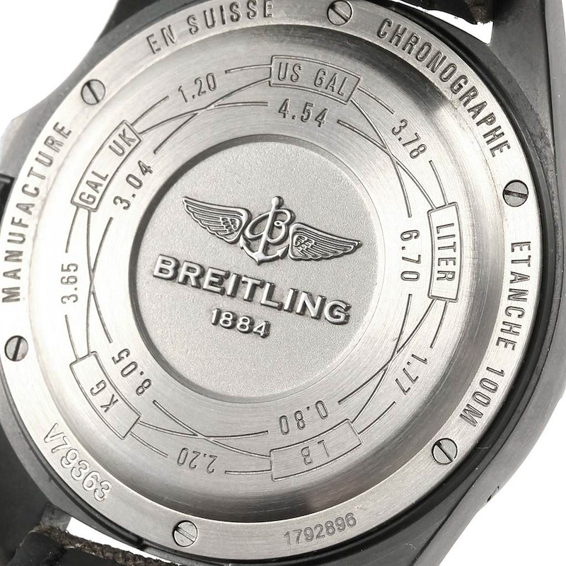 Breitling Aerospace Evo Night Mission Titanium Watch E56062 Box Papers SwissWatchExpo