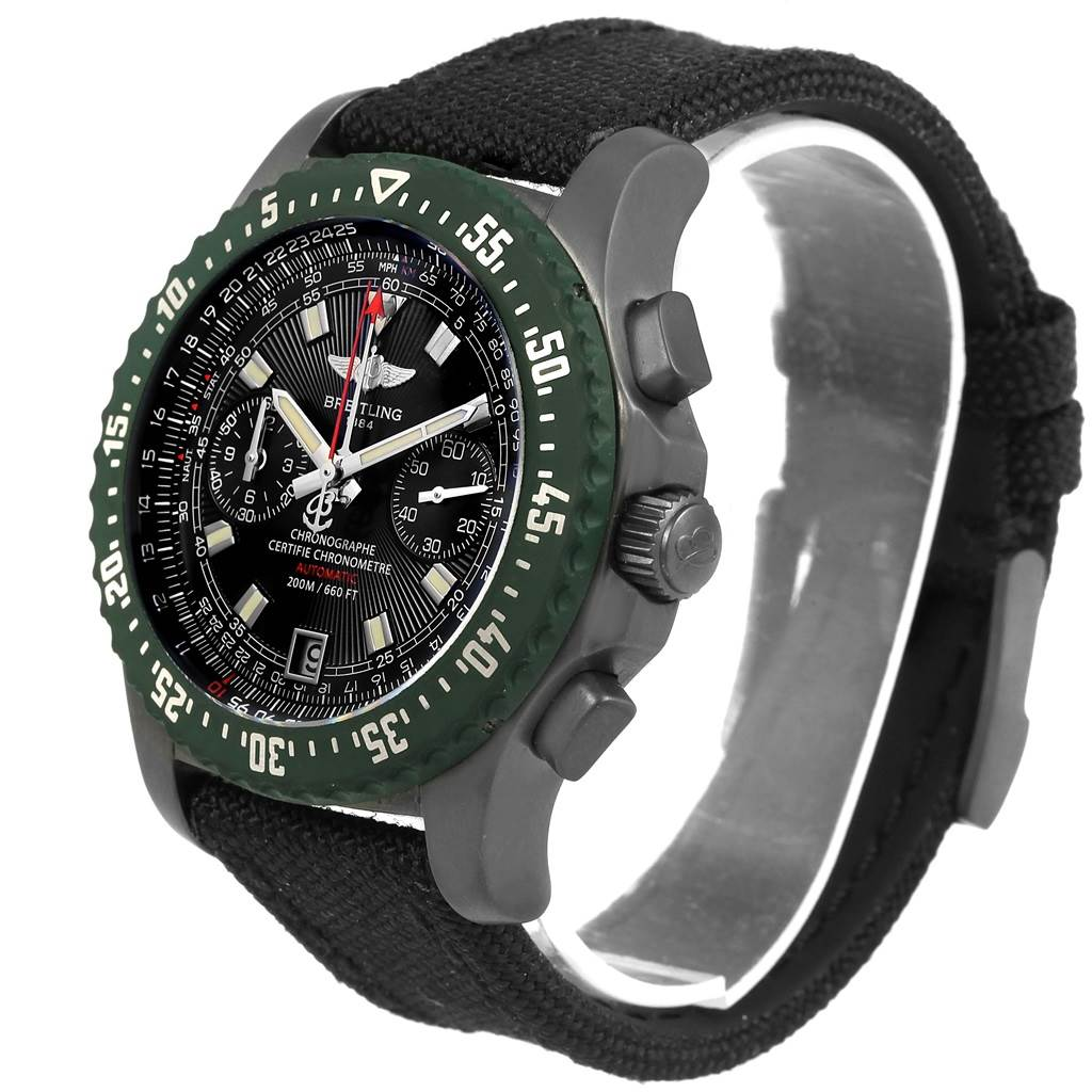 Breitling Skyracer Raven PVD Steel Limited Edition Watch M27363 SwissWatchExpo