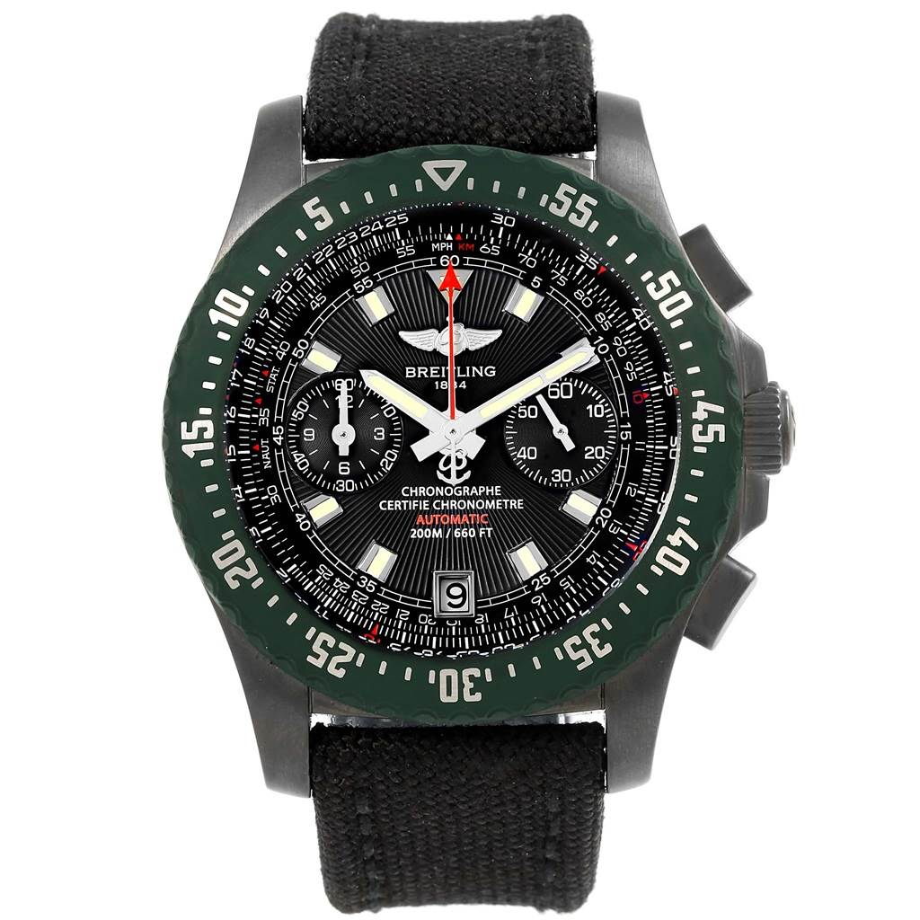 16621 Breitling Skyracer Raven PVD Steel Limited Edition Watch M27363 SwissWatchExpo
