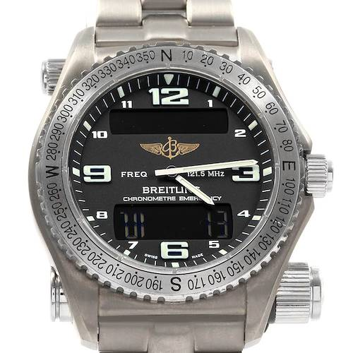 Photo of Breitling Emergency Superquartz LCD Titanium Watch E76321 Box Papers