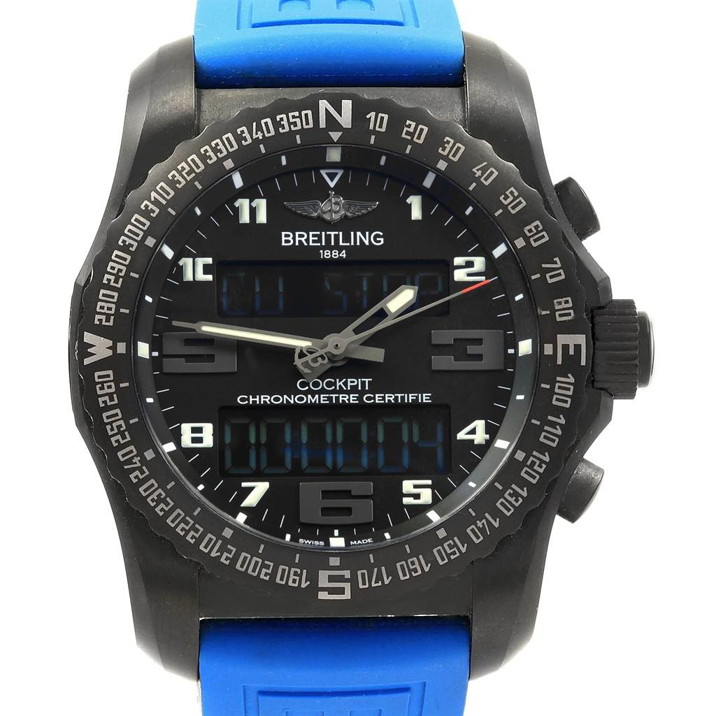 Breitling Cockpit B50 Night Mission PVD Titanium Watch VB5010 Unworn SwissWatchExpo