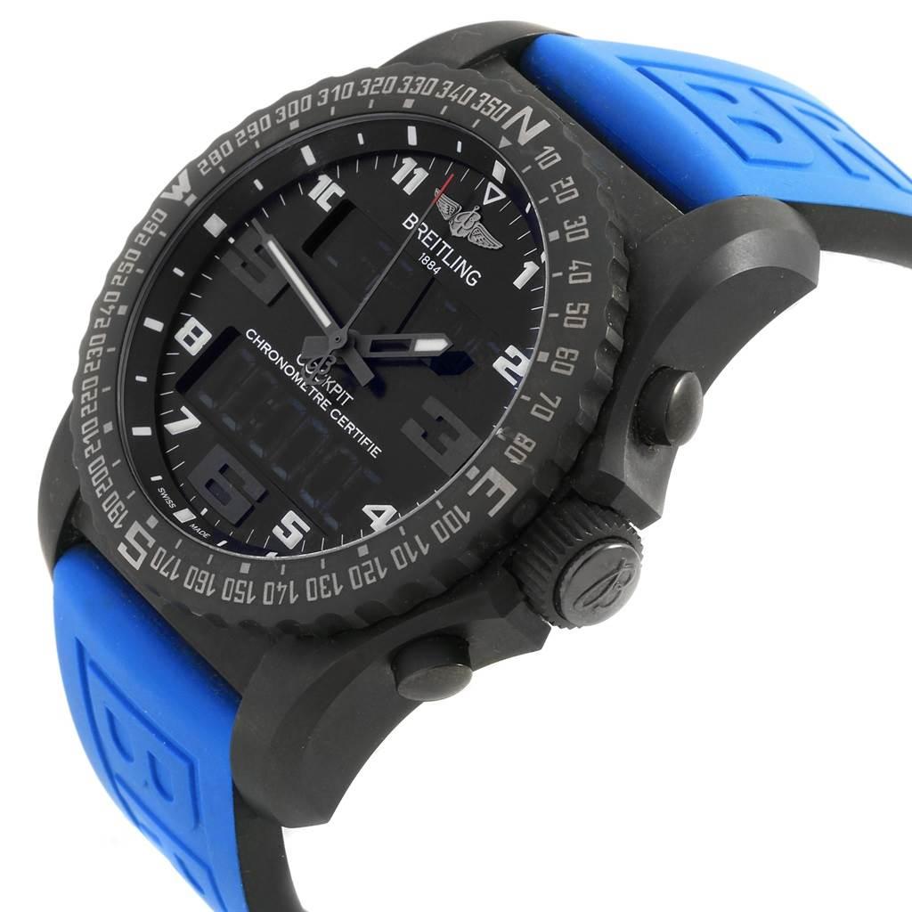 20001 Breitling Cockpit B50 Night Mission PVD Titanium Watch VB5010 Unworn SwissWatchExpo