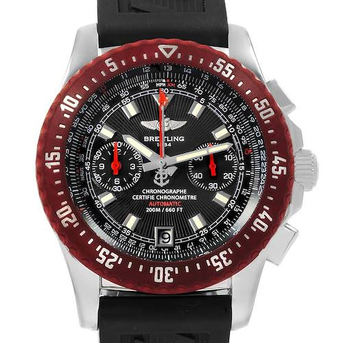 Photo of Breitling Skyracer Raven Red Rubber Bezel Steel Mens Watch A27363