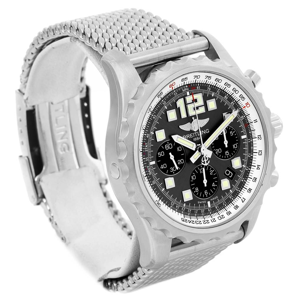 14209A Breitling Chronospace Grey Dial Chronograph Steel Mens Watch A23360  SwissWatchExpo