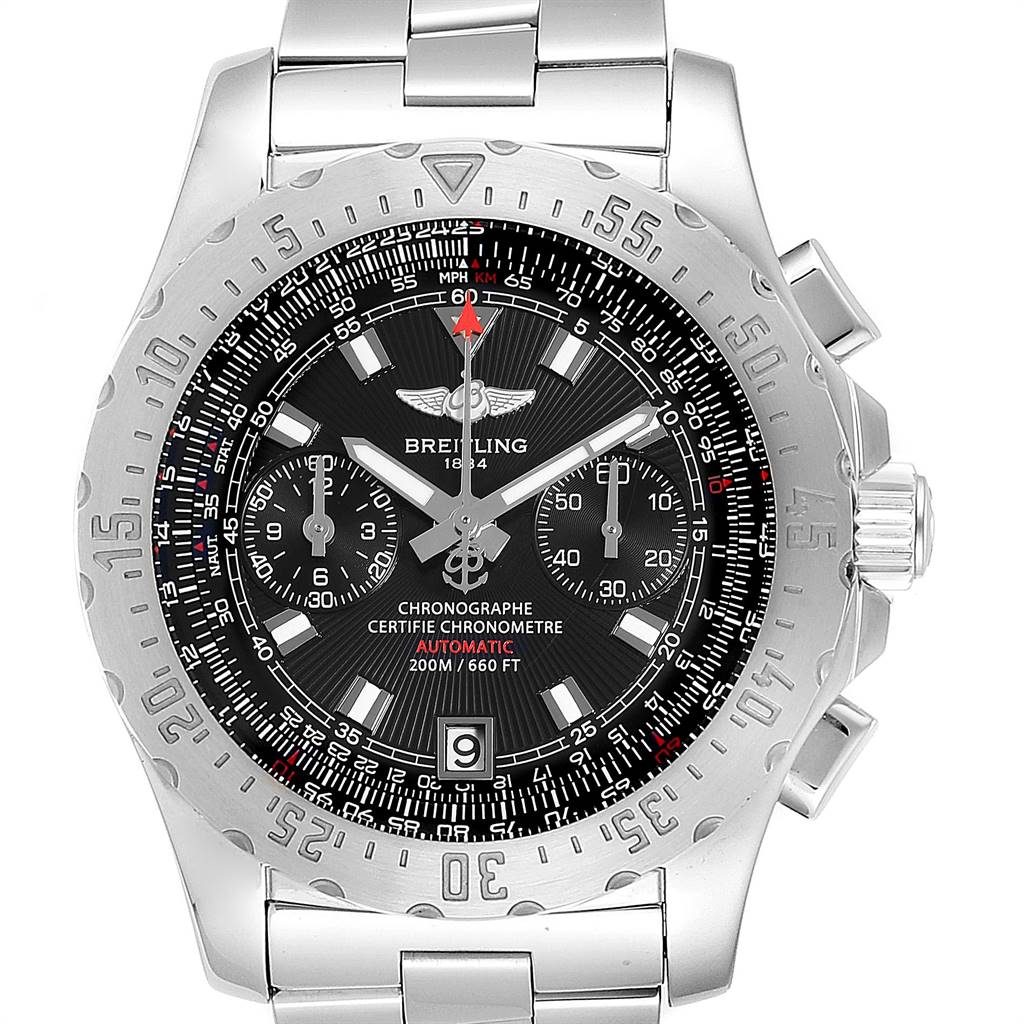 Breitling Professional Skyracer Black Dial Steel Mens Watch A27362 SwissWatchExpo