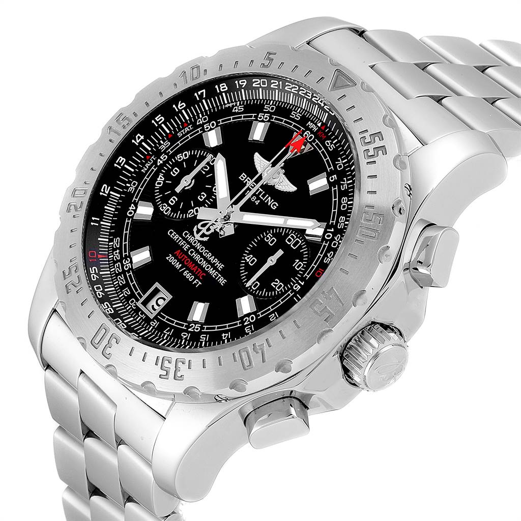 24699 Breitling Professional Skyracer Black Dial Steel Mens Watch A27362 SwissWatchExpo