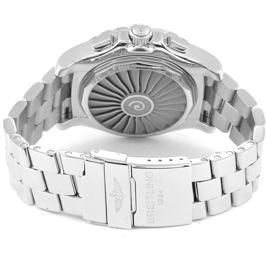 Breitling Airwolf GMT Black Dial Quartz Steel Mens Watch A78363 SwissWatchExpo