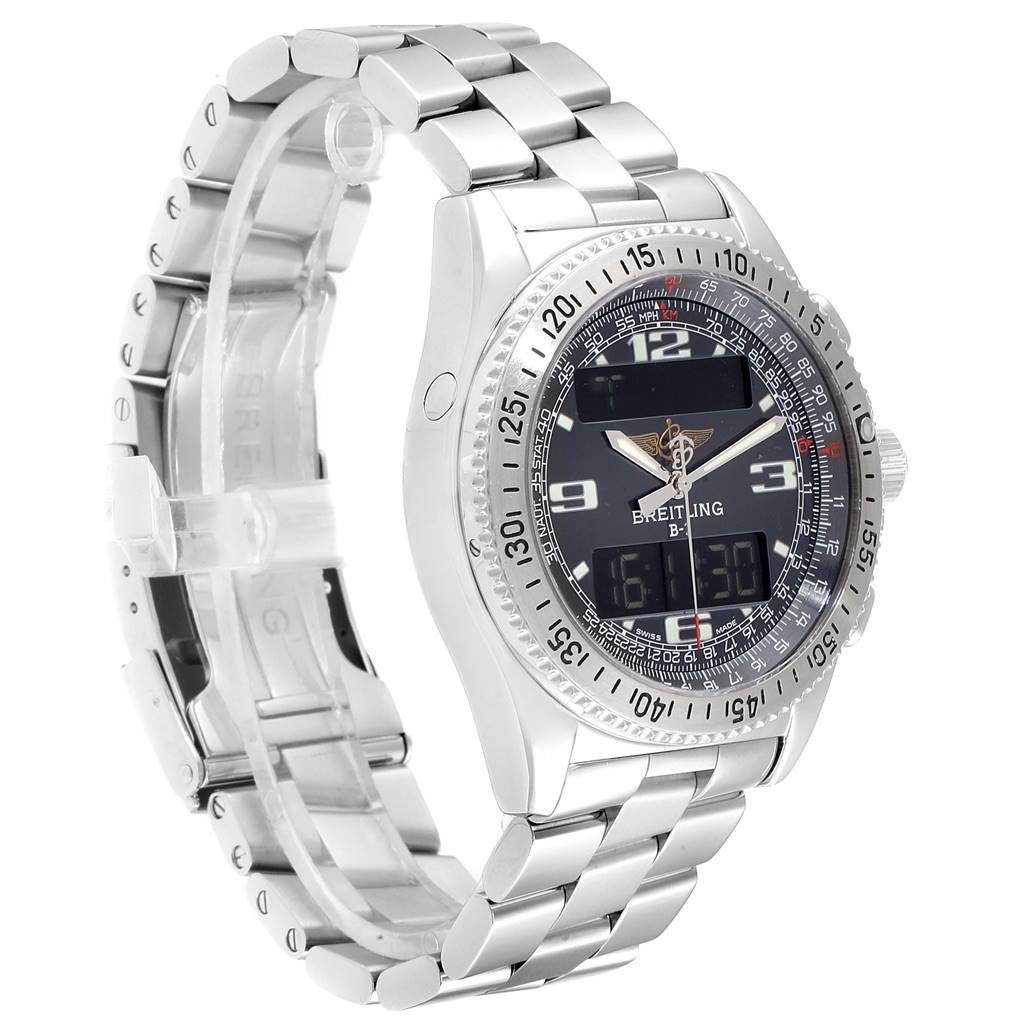Breitling Professional B1 Quartz Steel Mens Watch A68062 Box Papers SwissWatchExpo
