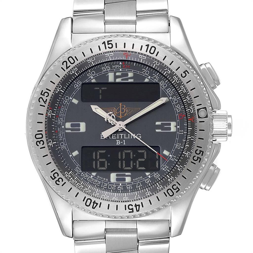 Breitling Professional B1 Quartz Steel Mens Watch A68062 Box Papers