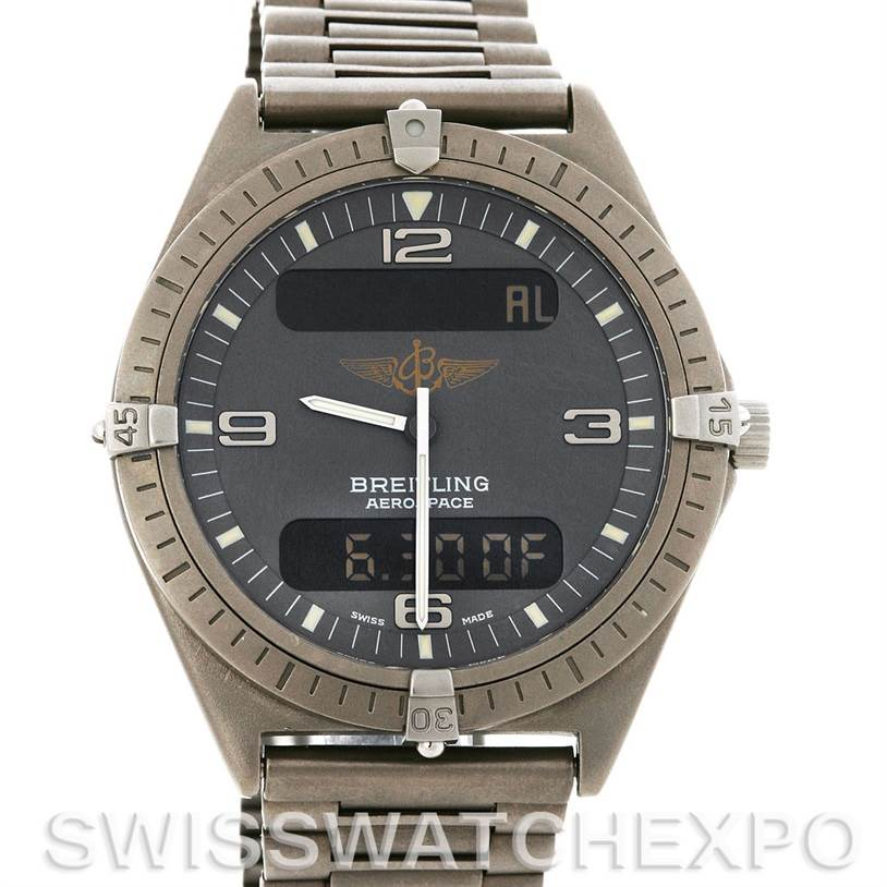 2770 Breitling  Aerospace Titanium Quartz Watch SwissWatchExpo