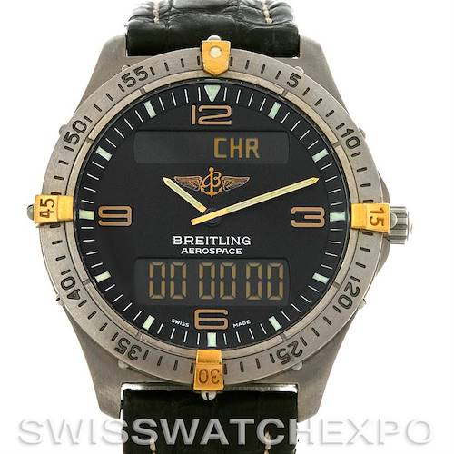 Photo of Breitling Aerospace Titanium Analog Digital Quartz F56062 Watch