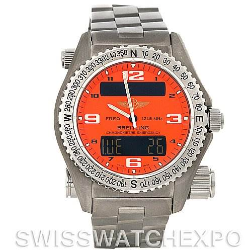 4179 Breitling Professional Emergency Chrono Quartz Titanium E7632110 Watch SwissWatchExpo