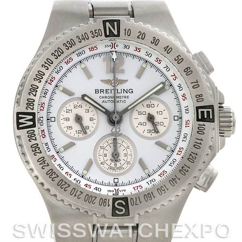 Photo of Breitling Hercules Mens Chronograph Steel Watch 3936310/A553