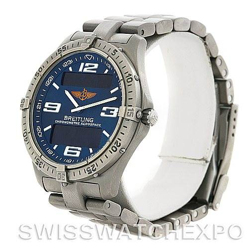 4572 Breitling Aerospace Titanium Analog Digital Quartz E75362    SwissWatchExpo
