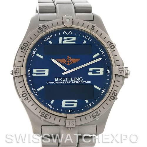 Photo of Breitling Aerospace Titanium Analog Digital Quartz E75362