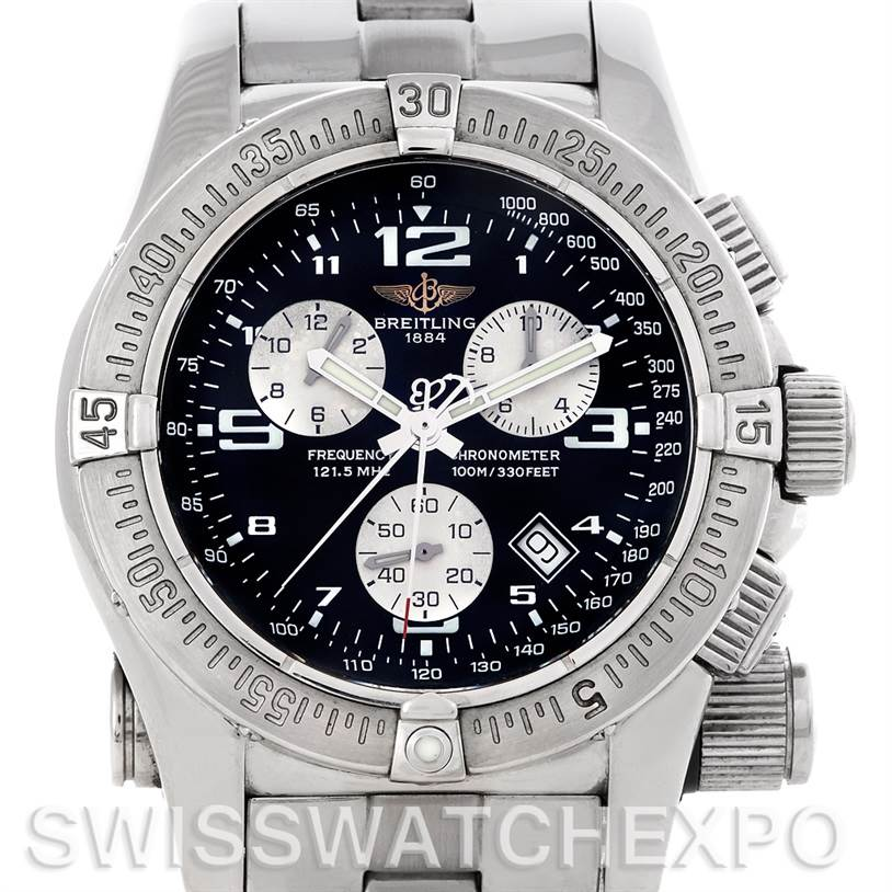 4648 Breitling Professional Emergency Chronograph Mission Watch A73321 SwissWatchExpo