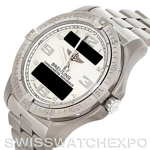 5338 Breitling Professional Aerospace Avantage Titanium Quartz Watch E79362 SwissWatchExpo