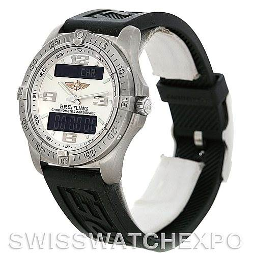 Breitling Professional Aerospace Avantage Titanium Quartz Watch E79362 SwissWatchExpo