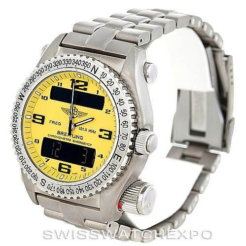 6355 Breitling Professional Emergency Watch LCD Quartz Titanium E76321 SwissWatchExpo