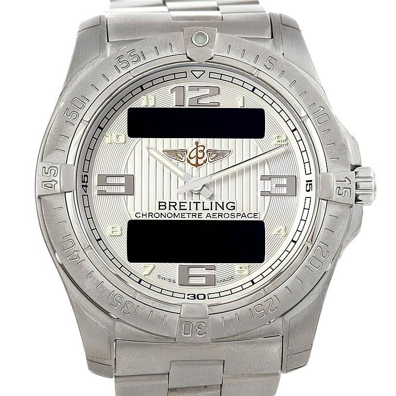 6481 Breitling Professional Aerospace Avantage Titanium Quartz Watch E7936210 SwissWatchExpo