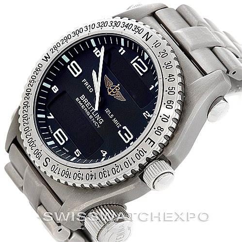 6638 Breitling Professional Emergency Quartz Titanium Watch E56121 SwissWatchExpo