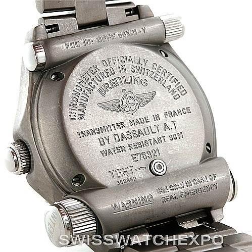 7168 Breitling Professional Emergency Watch LCD Quartz Titanium E76321 SwissWatchExpo