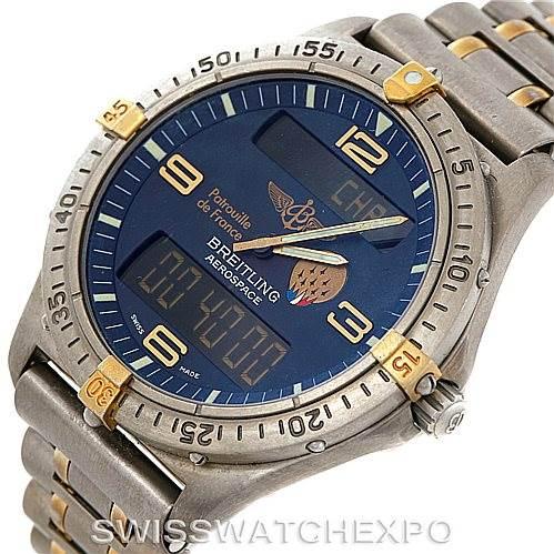 7370 Breitling Aerospace Titanium Analog Digital Quartz Watch F56062 SwissWatchExpo