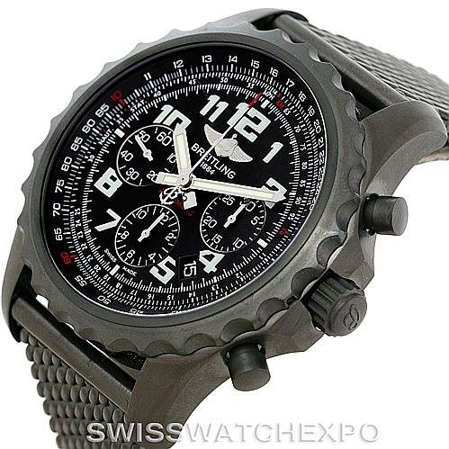 7509 Breitling Chronospace Limited Edition PVD Watch M23360 Unworn SwissWatchExpo